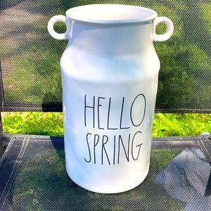 "Rae Dunn Vase ""Hello Spring"""